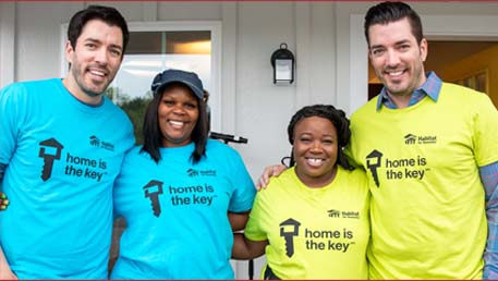 Property Brothers with new homeowners